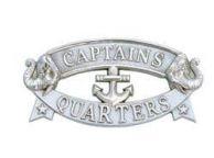 Chrome Captains Quarters Sign 9