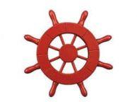 Red Decorative Ship Wheel 6