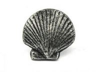 Antique Silver Cast Iron Seashell Napkin Ring 2 - set of 2
