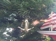 Chrome Admiralty Anchor Christmas Ornament 6