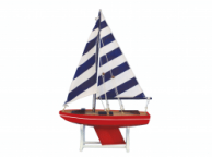 Wooden It Floats American Captain Model Sailboat 12