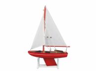 Wooden It Floats Nautical Rose Model Sailboat 12