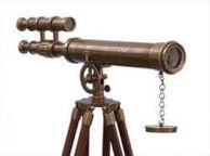 Floor Standing Antique Brass Griffith Astro Telescope 50