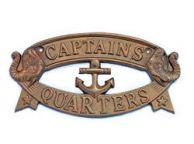 Antique Brass Captains Quarters Sign 9