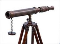 Standing Antique Copper Harbor Master Telescope 30