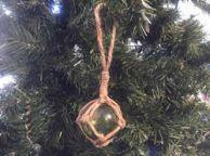 Green Japanese Glass Ball Fishing Float Decoration Christmas Ornament 2
