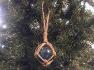 Light Blue Japanese Glass Ball Fishing Float Decoration Christmas Ornament 2
