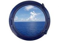 Navy Blue Decorative Ship Porthole Window 24