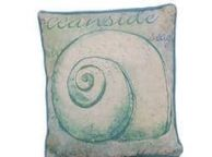 Blue and White Nautilus Decorative Throw Pillow 10