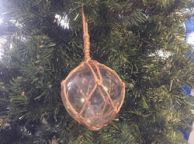 Clear Japanese Glass Ball Fishing Decoration Christmas Ornament 4