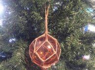 Orange Japanese Glass Ball Fishing Float Decoration Christmas Ornament 4