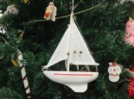 Wooden Intrepid Model Sailboat Christmas Tree Ornament