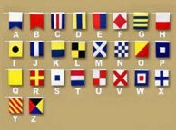 Set of 26 - Decorative Cloth Nautical Alphabet Flags 20