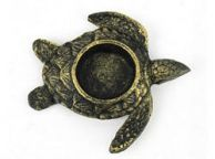 Antique Gold Cast Iron Turtle Decorative Tealight Holder 4.5