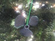 Seaworn Blue Cast Iron Propeller Christmas Ornament 4