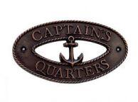 Antique Copper Captains Quarters Sign 9