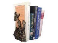 Set of 2- Antique Gold Cast Iron Anchor Book Ends 8
