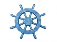 Rustic All Light Blue Decorative Ship Wheel 12
