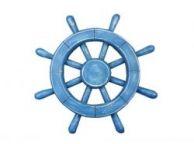 Rustic All Light Blue Decorative Ship Wheel 12