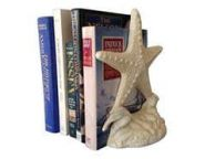 Set of 2- Antique White Cast Iron Starfish Book Ends 11