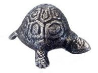 Antique Silver Cast Iron Turtle Paperweight 5
