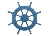Rustic All Light Blue Decorative Ship Wheel 24