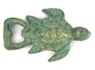Antique Bronze Cast Iron Turtle Bottle Opener 4.5