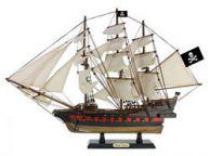 Wooden Ben Franklins Black Prince White Sails Limited Model Pirate Ship 26