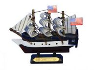Wooden USS Constitution Tall Model Ship 4
