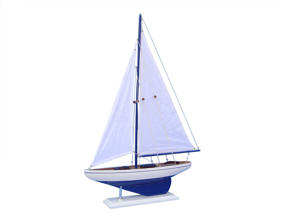 Wooden Pacific Sailboat Model Decoration 25