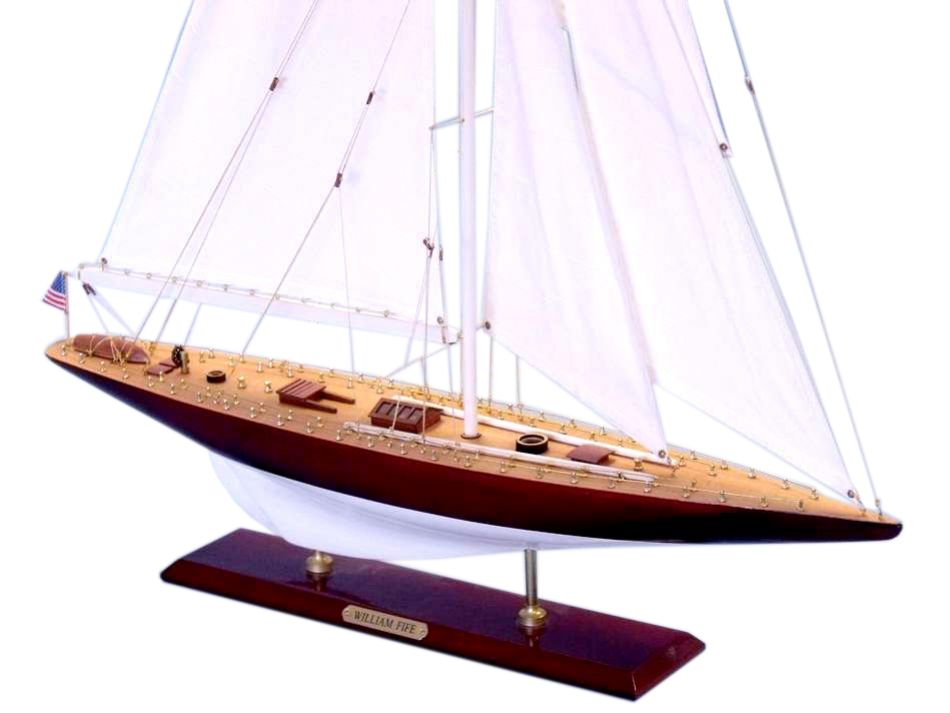 Wooden William Fife Limited Model Sailboat Decoration 35