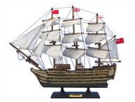 """Wooden HMS Victory Tall Model Ship 14"""" picture"""
