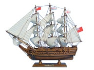 "Wooden HMS Bounty Tall Model Ship 15"" picture"