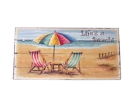 Wooden Chair and Umbrella Sign 10