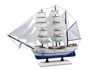 Wooden Malibu Decorative Sailing Model Ship 15