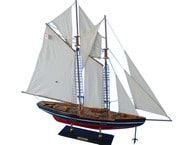 "Wooden Bluenose Model Sailboat Decoration 35"" picture"