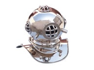 Chrome Decorative Divers Helmet 9