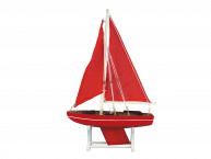 Wooden It Floats Ruby Compass Model Sailboat 12