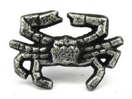 Antique Silver Cast Iron Crab Napkin Ring 2.5 - set of 2
