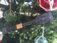 Wooden Rustic Seaside Decorative Squared Boat Oar Christmas Ornament 12