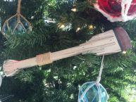 Wooden Hayden Decorative Squared Rowing Boat Oar Christmas Ornament 12
