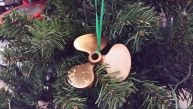 Antique Brass RMS Titanic Propeller Christmas Tree Ornament 4