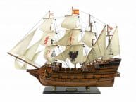 Wooden Spanish Galleon Tall Model Ship Limited 34