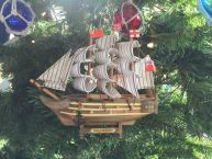 Wooden HMS Victory Model Ship Christmas Tree Ornament picture