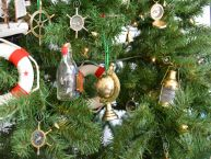 Brass World Globe Christmas Tree Ornament