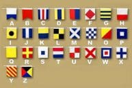 "Set of 26 - Decorative Cloth Nautical Alphabet Flags 20""  picture"