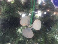 Antique Bronze Cast Iron Propeller Christmas Ornament 4 picture