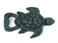Seaworn Blue Cast Iron Turtle Bottle Opener 4.5 picture
