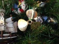Brass RMS Titanic Propeller Christmas Tree Ornament