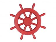 Red Decorative Ship Wheel 12